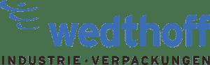 Wedthoff Industrieverpackungen/Transportverpackungen Stahlblech Weißblech Kunststoff. Logo