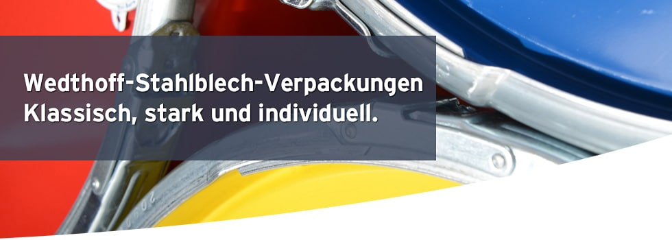 Industrieverpackungen kaufen; Köln; Bonn; NRW; DE; BENELUX. Transportverpackungen; Fässer; Stahlblechfässer; Spundfässer; Kunststofffässer; www.bodesign.de; www.wedthoff.de