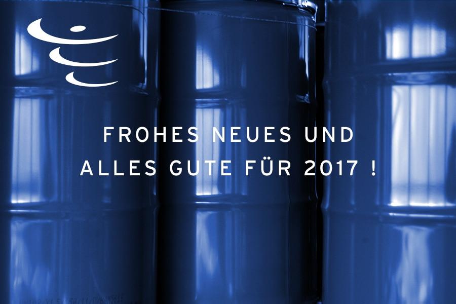 Frohes Neues 2017. Industrieverpackungen, Stahlfässer Kunststoffverpackungen & Co auf GO!