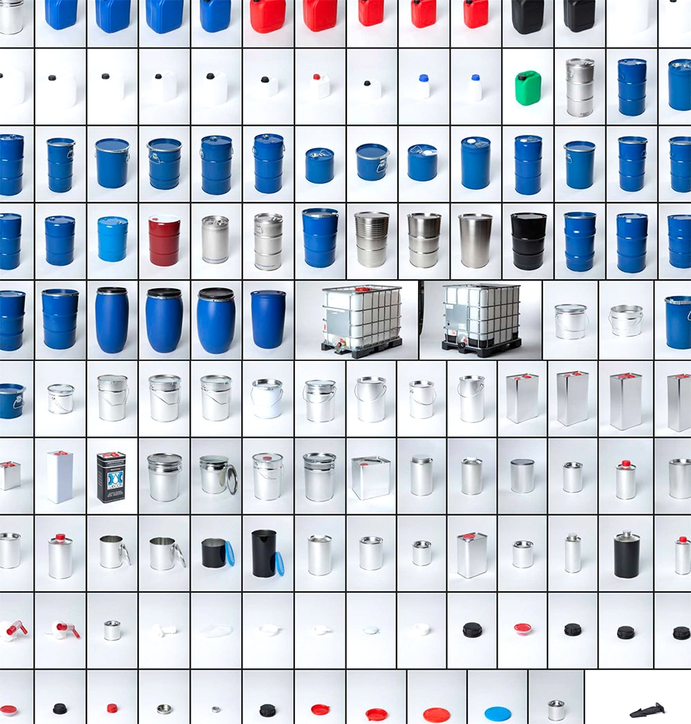 Industrieverpackungen + Gefahrgutverpackungen Weissblech Stahlblech Kunststoff by WEDTHOFF