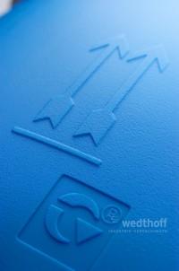 Kunststofffässer mit Deckel, Moderne Transportverpackung, Industrieverpackungen by WEDTHOFF