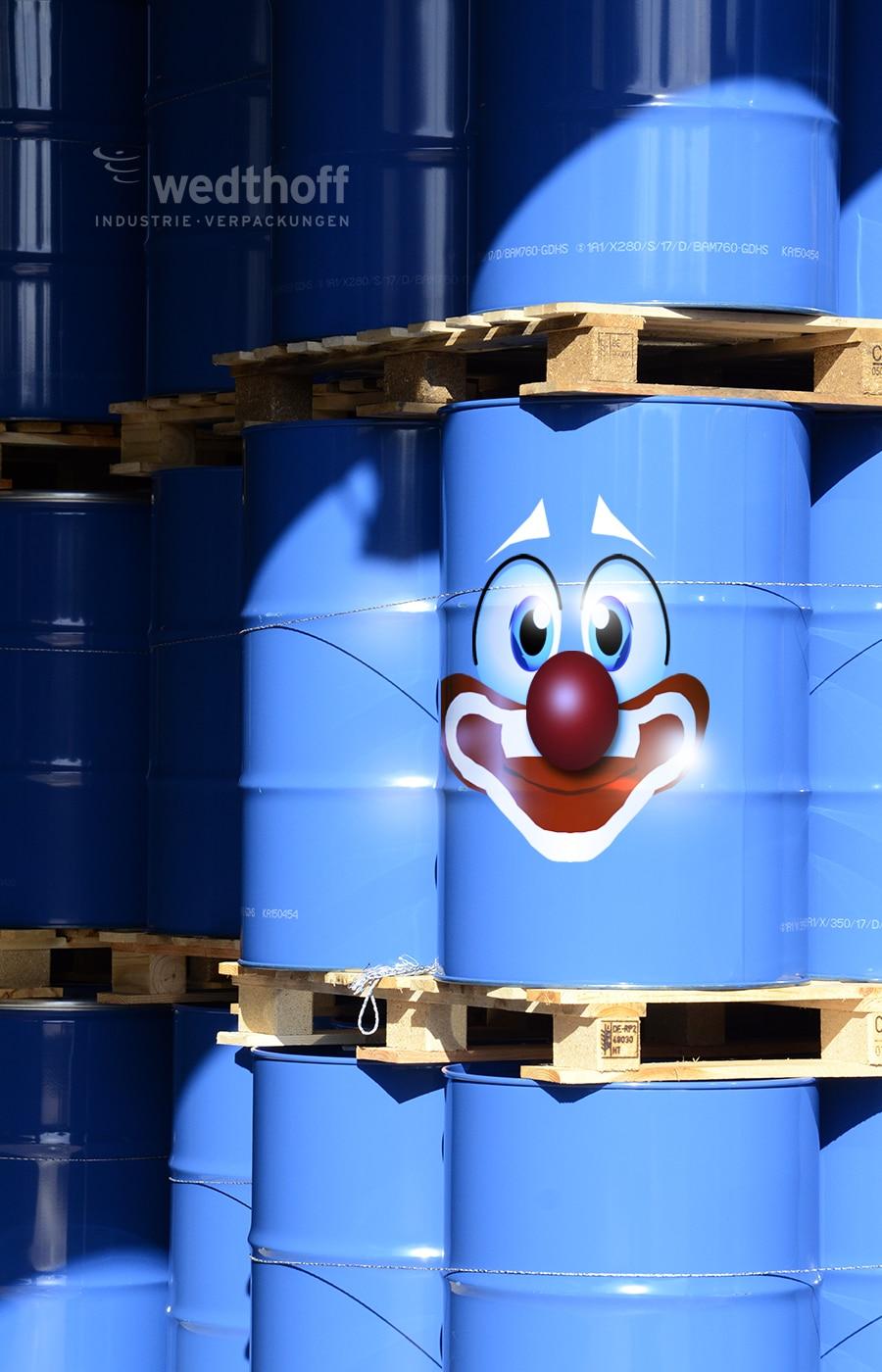 Karneval und Stahlfass – WEDTHOFF Industrieverpackungen Gefahrgutverpackungen