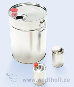 WeßblechKannen, Weißblechflaschen – WEDTHOFF Industrieverpackungen, Weissblechverpackung, Köln, Bonn, NRW