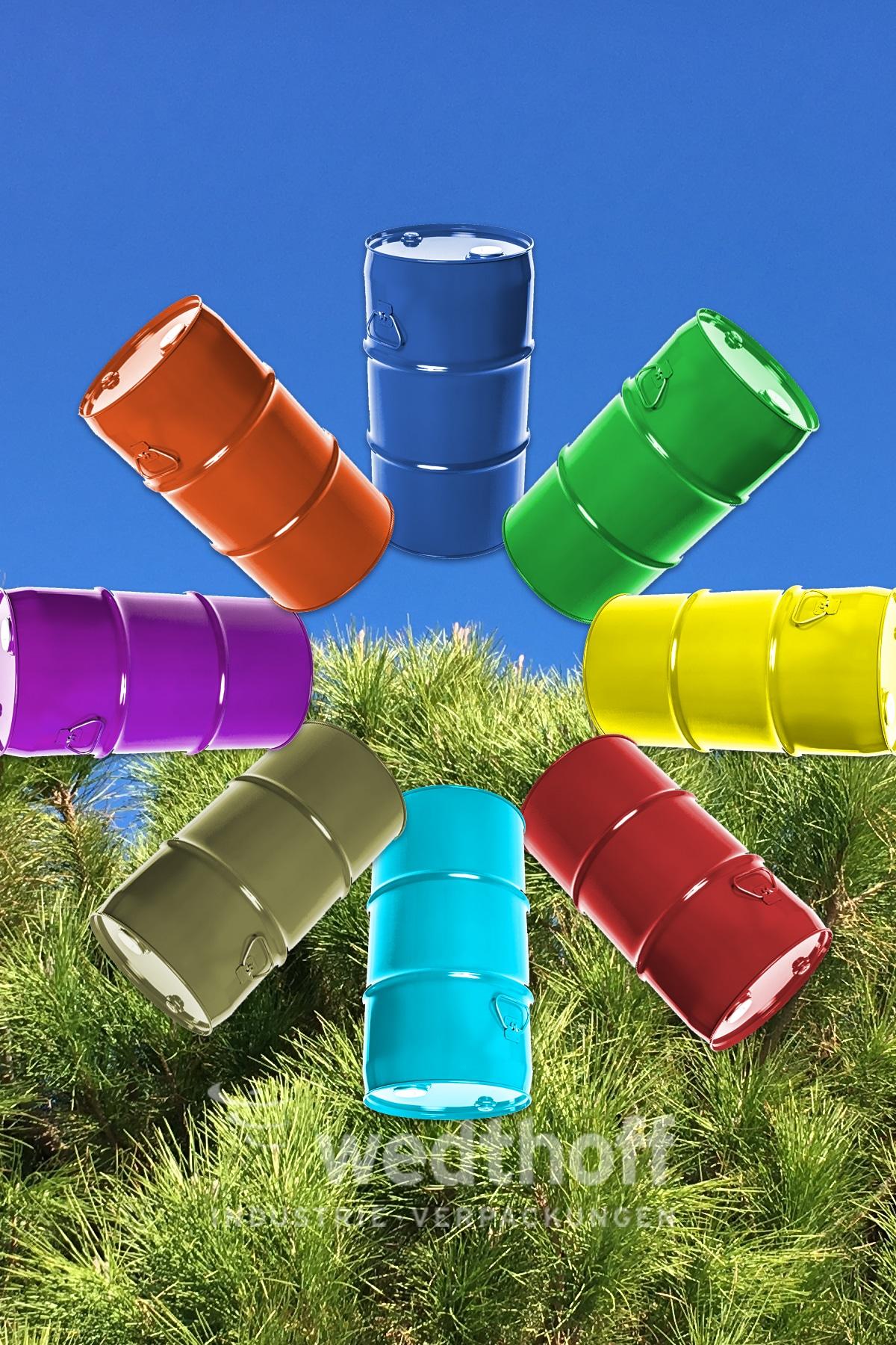 Gefahrgutverpackung by WEDTHOFF in Sonderlackeierung. Industrieverpackungen individualisiert.