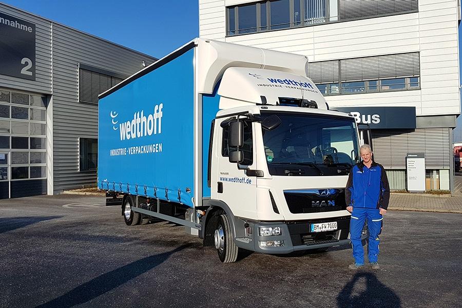 Stellenangebot, Job, Festanstellung 02 - LKW Fahrer, Trucker NRW by WEDTHOFF Industrieverpackungen