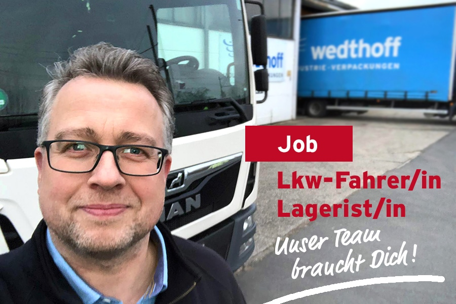 Stellenangebot, Job, Festanstellung 01 - LKW Fahrer, Trucker NRW by WEDTHOFF Industrieverpackungen