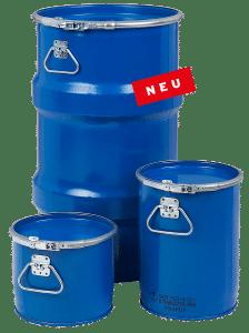 Bergungsfaesser / Bergungsverpackung / Gefahrgutverpackungen mit 300l - 123l - 60l - 12l - 6l @ WEDTHOFF Industrieverpackungen Großhandel Köln Bonn NRW