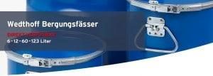 WEDTHOFF Industrieverpackungen + Bergungsverpackungen (Standort Köln, Ruhr, NRW) Transportverpackungen Lagerung > Fässer; Deckelfässer; Spundfässer; Edelstahlfass mit Spannring 216l. Professional Packaging