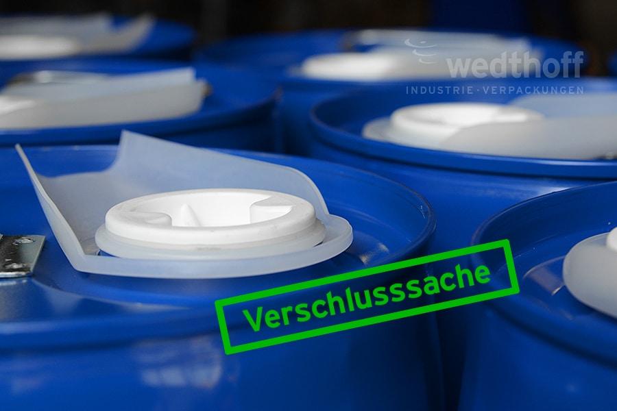 WEDTHOFF Industrieverpackungen Gefahrgutverpackungen Services NRW + Zubehör (hier Verschlüsse / Siegelkappen)