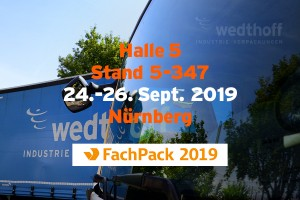 WEDTHOFF wieder @ Fachpack 2019 in Nürnberg mit Industrieverpackungen Gefahrgutverpackungen Bergungsverpackungen vom Shop in NRW