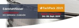 WEDTHOFF Industrieverpackungen NRW @ Fachpack 2019; Köln, NRW, Benelux. Gefahrgutverpackungen; Fässer; Stahlblechfässer; Spundfässer; Bergungsverpackungen; www.wedthoff.de