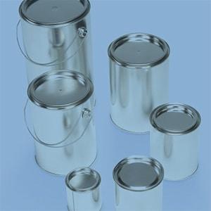 Gefahrgutverpackungen aus Weißblech von WEDTHOFF: Weißblechdosen mit Deckel Weißblecheimer