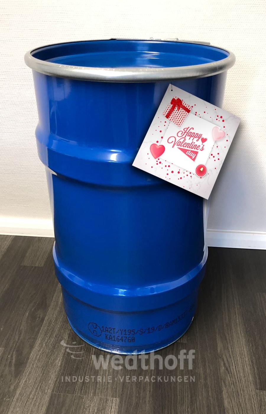 Bergungsverpackungen · Bergungsfass 123 Liter. Gefahrgutverpackung für Feuerwehr, THW, Flughäfen und Unfälle mit Bergung