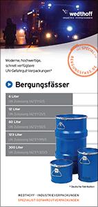 WEDTHOFF Industrieverpackungen – Folder Bergungsfässer / Bergungsverpackungen