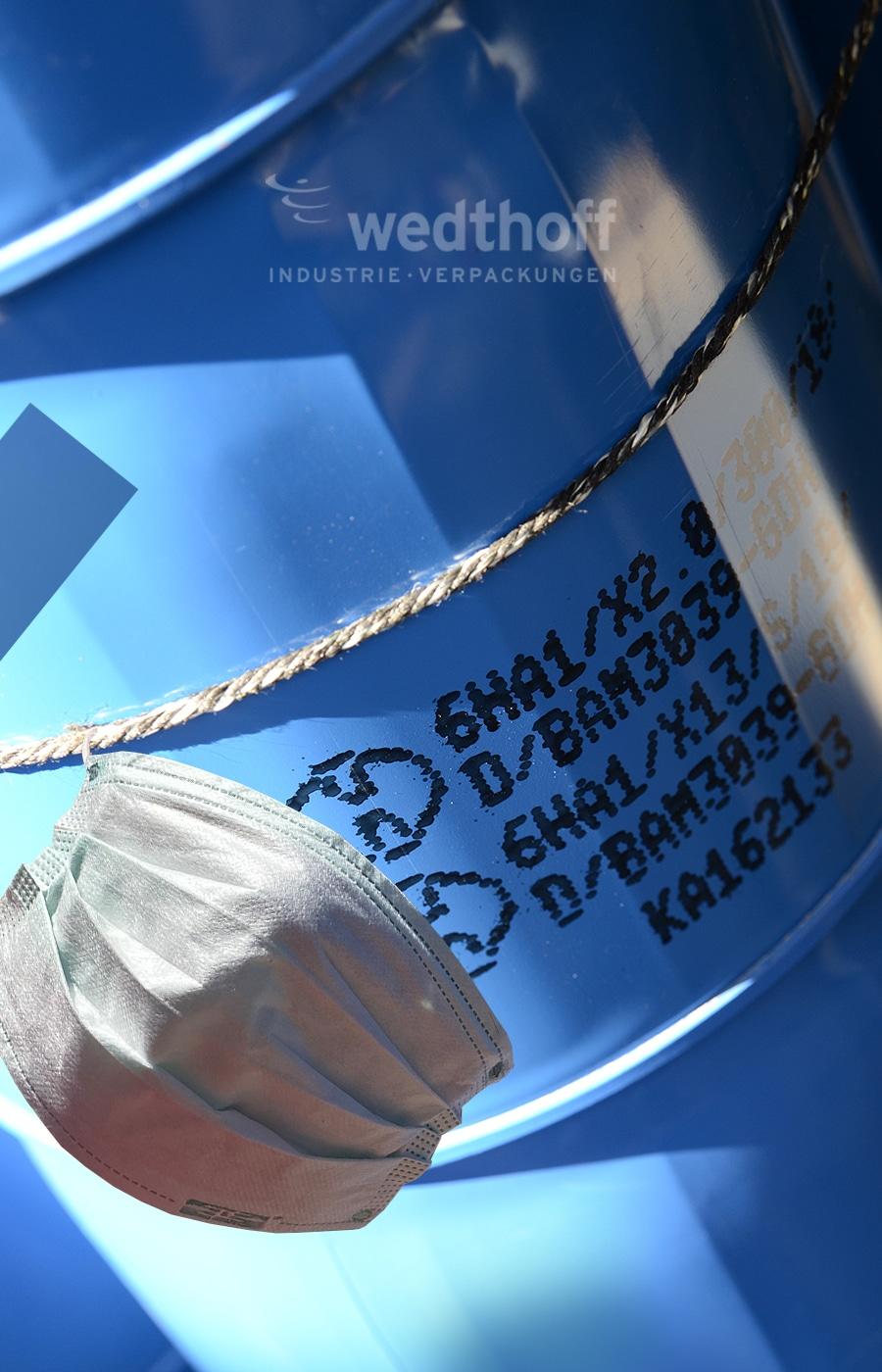 Corona Virus / Covid19 – Gefahrgutverpackungen, Stahlfässer Volumen bis 320 Liter. UN-Codierung. Deutsche Fabrikation von WEDTHOFF Industrieverpackungen