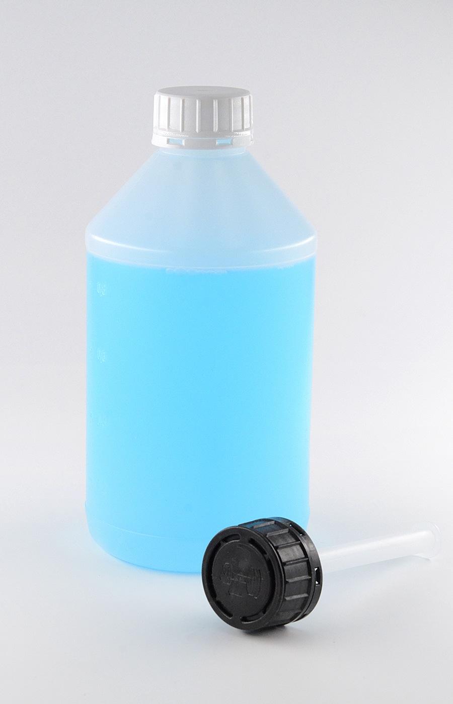 Kunststoffflaschen PE 1 Liter, mit Verschluss (geeignet für Ethanol 96% / Desinfektionsmittel) –WEDTHOFF Industrieverpackungen - RFL1000 - 02