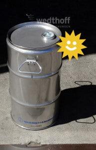 Edelstahlfass – UN Gefahrgutverpackung BAM-Zulassung. Hochwertige Fässer von WEDTHOFF in div. Ausführungen und Größen
