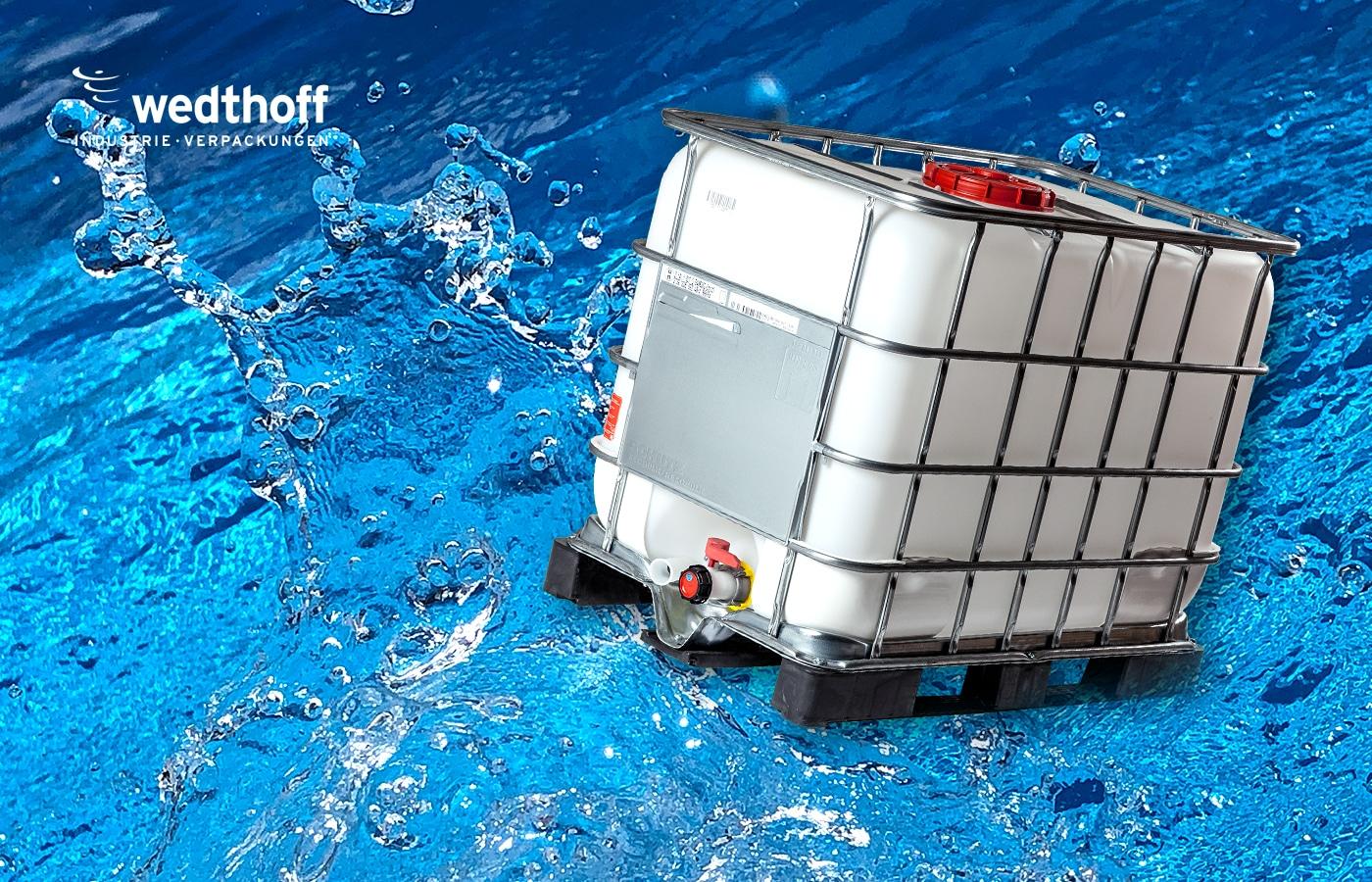 IBC-Container. Wertstoff-behälter für die Zukunft kaufen. Unterschiedliche Größen. WEDTHOFF Industrieverpackungen